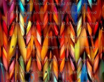 Artisan fait Kona coton courtepointe Textile Art panneau fibre Art mythique couleurs galon