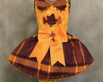 FALL:  Autumn Plaid Dog Dress