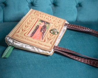 "Vintage Book Purse- ""Faithful Shirley"""
