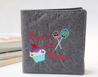 Fabric Book -  Perfect Soft Book for Babies and Toddlers - Cupcake Birthday Gift -