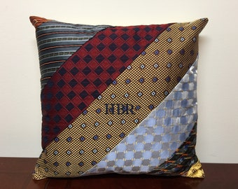 Custom Made Pillow Made From YOUR NECK TIES!!