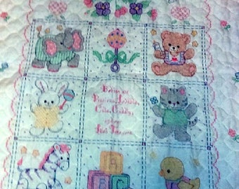 Babies Are Precious Baby Quilt/Crib Cover