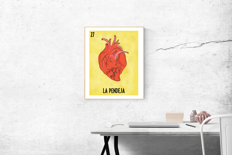 La Pendeja Loteria Card Digital Print