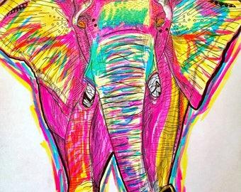 D4bblz Elephant - Print