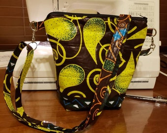 Beautiful African Inspired Fully Lined Multi-Colored Crossbody Bag