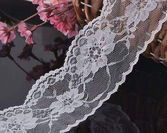 2 m pattern white lace flower
