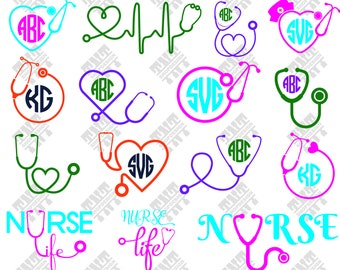Stethoscope svg - Stethoscope vector - Stethoscope monogram digital clipart for Print, Design or more , files download svg, png, dxf