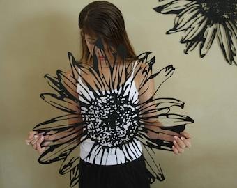 daisy art - flower art - metal wall art flower artwork - floral art - floral artwork - living room wall art - new home housewarming gift & Floral artwork | Etsy