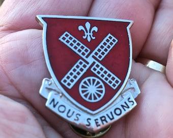 Vintage WW2 Enamel Badge