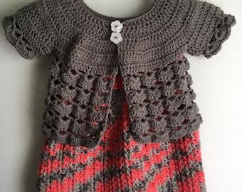 Girls Spring dress/sweater set