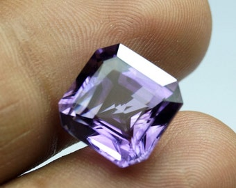 12mm Amethyst Square Octagon 1 piece