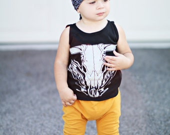 Mustard harem pants - Baby leggings - Toddler leggings - Boy leggings - Mustard harem leggings with striped cuffs - Hipster baby clothes