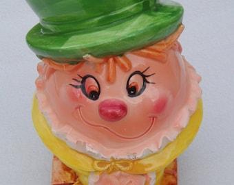 Lefton Humpty Dumpty Ceramic Vase or Pencil Holder Japan