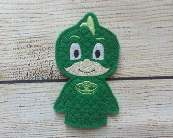 Green Bedtime Heroes Finger Puppets,  Pretend Play, Imagination, Easter Basket, Road Trip, Kids, Quiet Time,