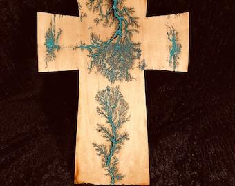 Handmade wood wall cross
