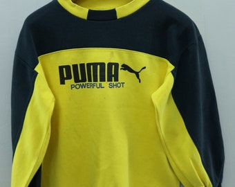 Vintage Puma Big Spell Out Logo Sweatshirt Pull Over Sport Fashion Basketball Sweater Size 160