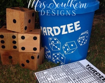 Yardzee, Lawn Games, Wooden Dice Game, Outdoor Games, Natural dice