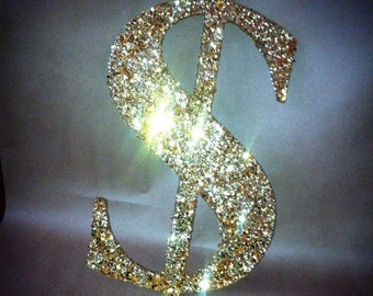 """Giant dollar sign 12"""" size (other sizes available) in any color you'd like!"""