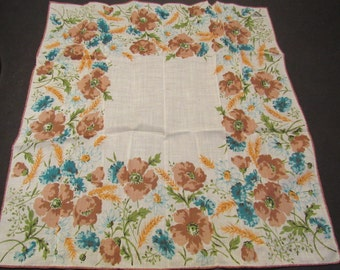 vintage print fine linen