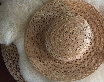 vintage straw summer hat from 1996