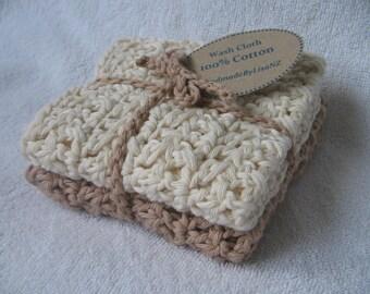 Cotton Crochet Wash Cloths