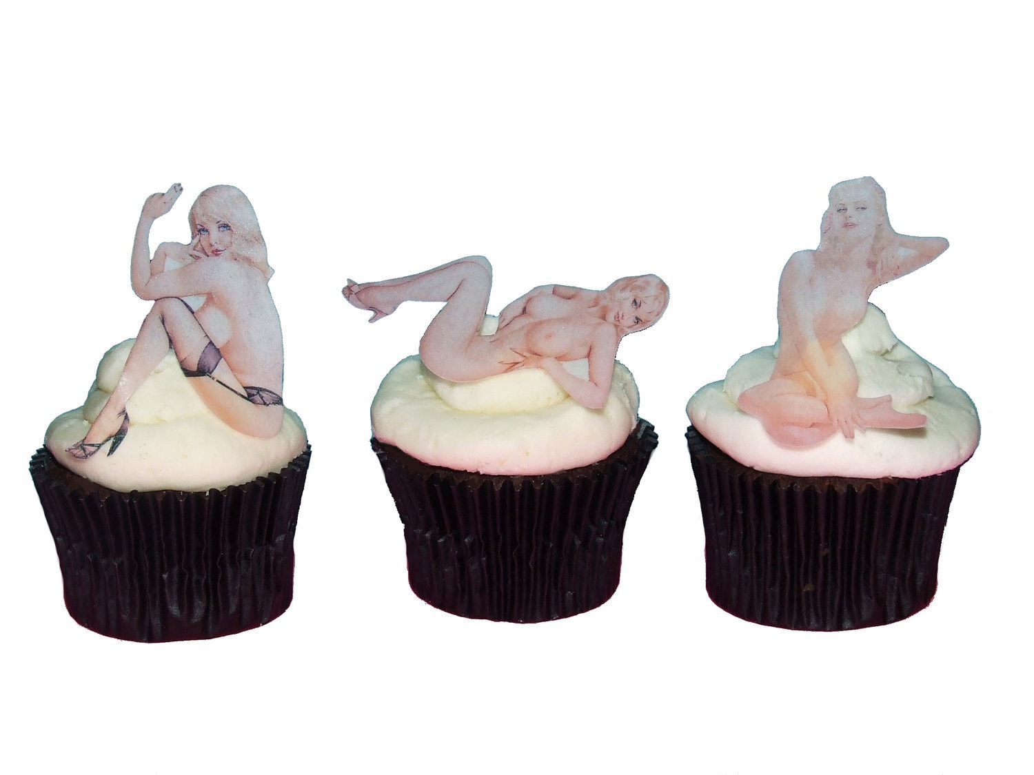 Valentines Day For Him Naked Women Cake Topper Edible
