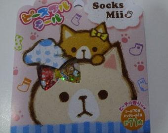 Japan Mind Wave kawaii SOCKS MII 71pcs stickers flake