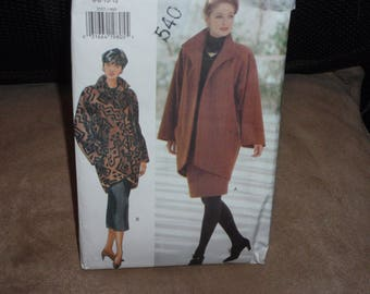 Butterick 3557 Misses Lined Jacket and Skirt  Size 6 to 12  New Uncut
