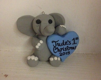 Baby's First Christmas Ornament Elephant