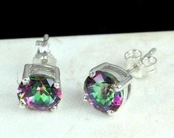 Mystic Earring, Mystic Stud Earring, Stud Earring, Mystic Jewellery, Mystic Stone Earring, 925 Sterling Silver, Women Stud Earring, Jewelry