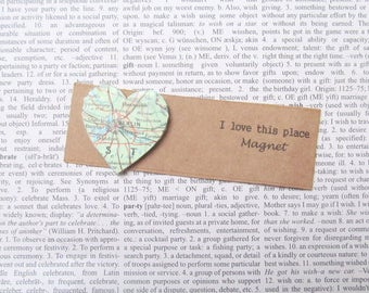 Berlin, Germany map magnet: heart shaped magnet made with an original map. Gift idea for best friend, new home, girlfriend, s gift