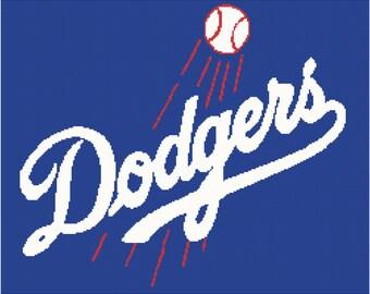LA Dodgers Baseball Afghan Chart Pdf