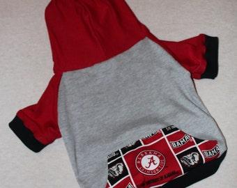 Alabama Crimson Tide Dog Hoodie / Personalization Available!