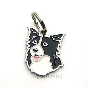 Border collie tag etsy pet id tag dog id tag personalised stainless steel breed sciox Choice Image