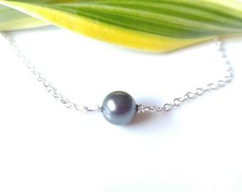 Anklet, Pearl Anklet, swarovsky pearl anklet, Sterling silver anklet, Black pearl, bracelet, necklace,toddlers, girls, teens, mom, gift