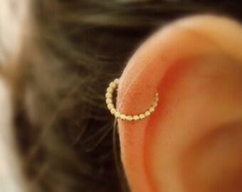 Fake Nose Ring - Fake Piercing - Non Pierced cartilage Ring - Fake septum Piercing -Fake cartilage Hoop - Gold Fake Nose Ring -Fake Lip Ring
