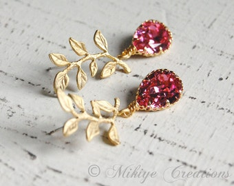 Wedding Bridemaid Jewelry,  Bridesmaid Earrings, Wedding Jewelry, Chandelier Swarovski Crystal Cubic Zirconia Drop Earrings