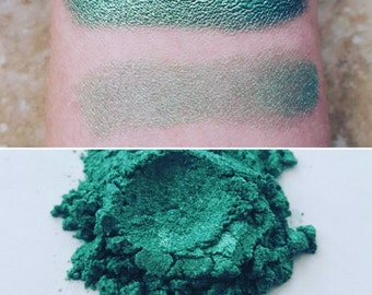 Artemis - Green-Gold, Mineral Eyeshadow, Mineral Makeup, Vegan