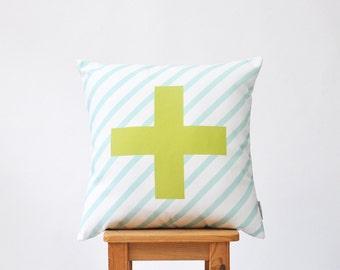 "Decorative Pillows, Throw Pillow, Cushion Cover, Scandinavian Pillow Cover, Nursery Decor, Pillow Covers, Cross Pillow 16"" x 16"""