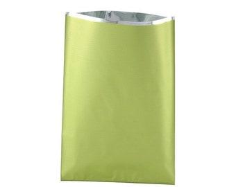 20, 50, 100 or 200 10x15cm or 15x25cm metallic light green gift box