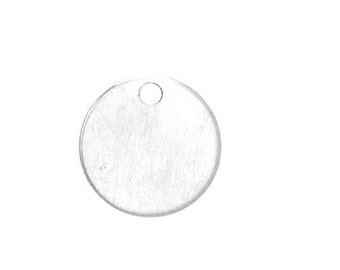 Medium Disc Charm - Sterling Silver (SS Item#C30108P)