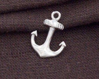 1 of 925 Sterling Silver Anchor Pendant  13x15mm.Polish Finished :th2533