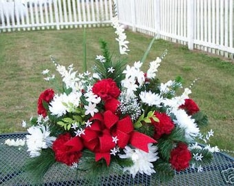 Fathers Day Mothers Day Memorial Service Cemetery Grave Headstone Silk Flowers Custom Colors Welcome Sympathy Funerals gravesite floral