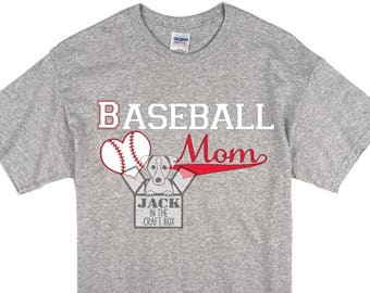 BASEBALL MOM T-Shirt - support your childs baseball -