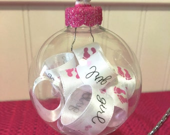 Gender Reveal - Gender Reveal Ideas - Baby Girl Decor - Baby Shower Gift Girl - Gifts Under 20 - Gender Reveal Decorations - Baby Feet
