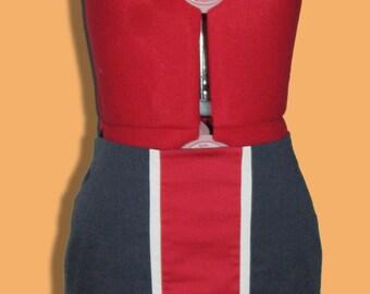 Stripe cotton skirt