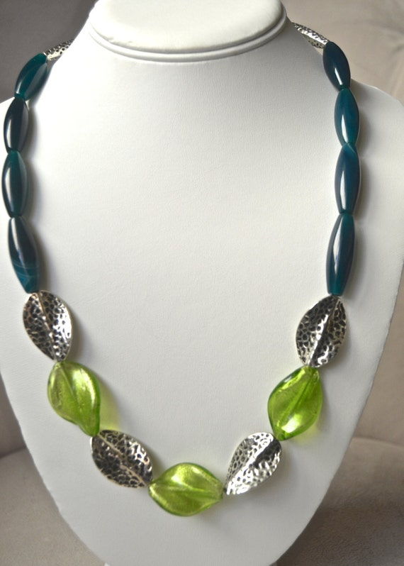 """20"""" Alluring Blue Agate Necklace"""