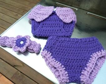 Newborn Diaper Covers and Headband Baby Shower Gift