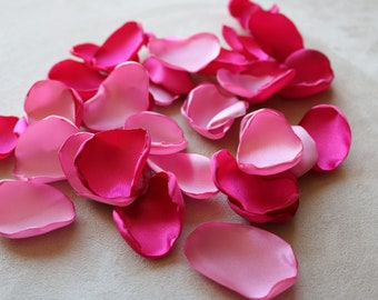 Shocking Pink and Rose Flower Petals * Wedding Decor * Baby Shower * Birthday Party * Table Decor