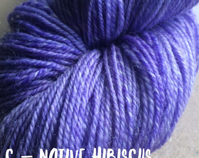Elements Collection - Col Native Hibiscus 4 ply supersoft 100% Merino